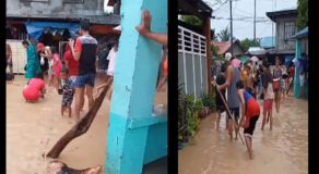Bataan Residents Happily Catch 'Tilapia' in Floodwaters