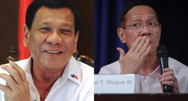 Duque Forever Safe As Duterte Promises Protection From Detention
