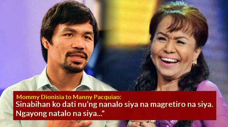 manny pacquiao mommy dionisia