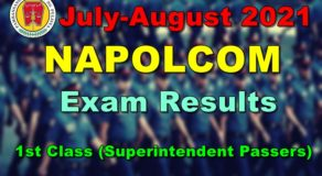 NAPOLCOM Exam Results July-August 2021 – 1st Class (Superintendent Passers)