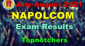 NAPOLCOM Exam Results July-August 2021 – Topnotchers