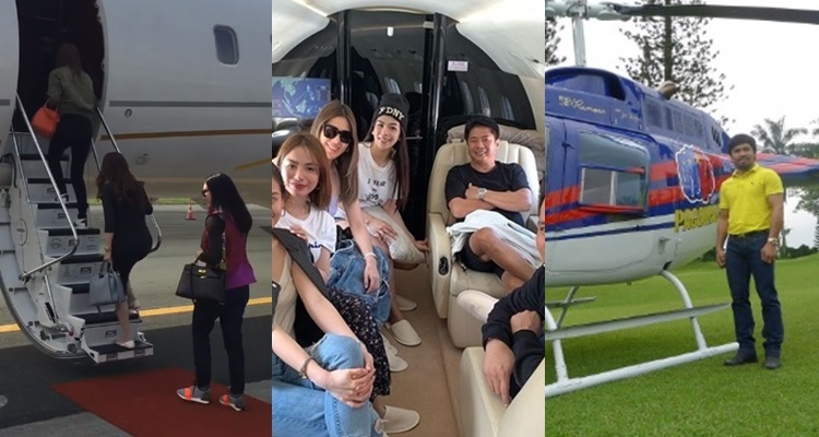 Pinoy Celebrities With Private Planes
