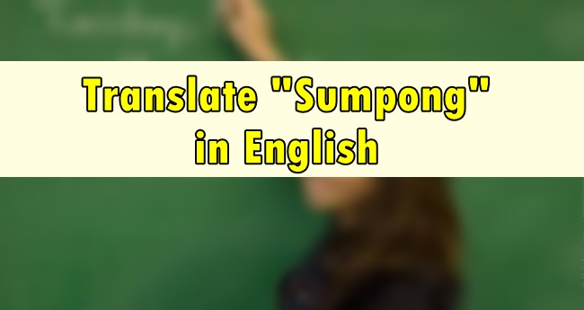 Sumpong in English