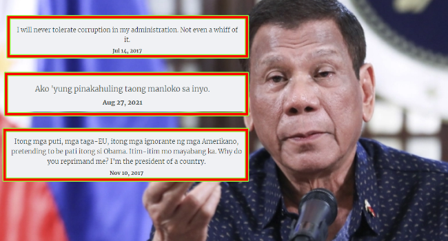 President Duterte Quotes Now Archived, Best Quotes Of Duterte Compiled