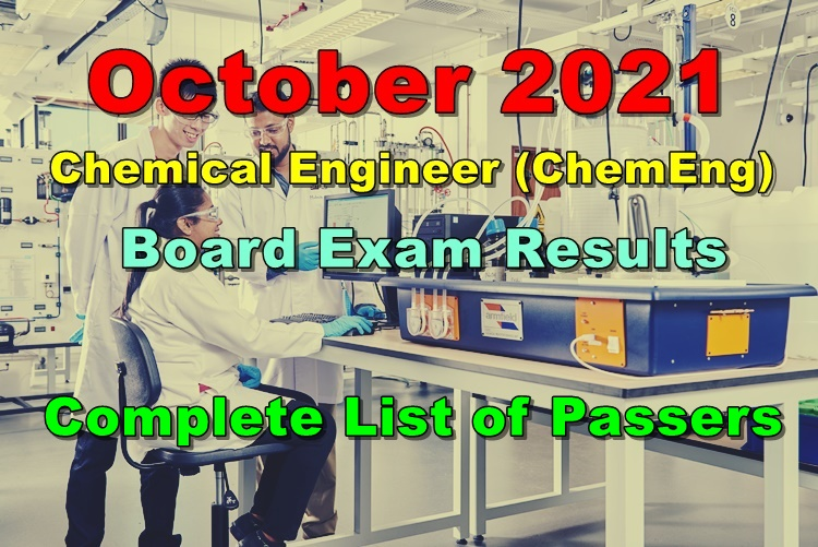 Chemical Engineer Board Exam Results