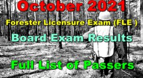 Forester Licensure Exam FLE Result October 2021 (Complete List of Passers)