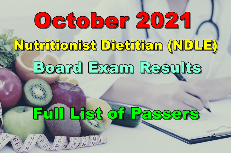 Nutritionist Dietitian Board Exam Result