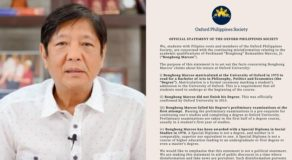 """Oxford Philippines Society Clarifies Bongbong Marcos """"Did Not Finish"""" Degree"""