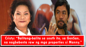 Pacquiao is Selling Properties Due to Financial Shortage – Cristy Fermin