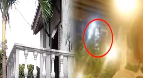 """Alleged 'White Lady"""" of Fort San Pedro in Cebu City Caught on Camera"""