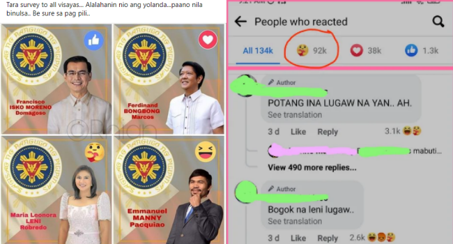 BBM Supporter Furious After Creating Survey Where Marcos Lost