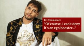Kit Thompson Admits 'Yummy' Comment Boosts His Ego