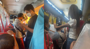 Commuter Exposes Hardly Practiced Social Distancing Inside Public Bus