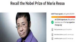Netizens Launch Petition to Nullify Nobel Peace Prize of Maria Ressa